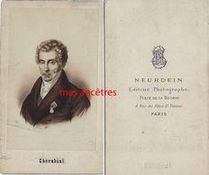 CDV Historique--Cherubini - Compositeur De Musique-photo Neurdein à Paris - Old (before 1900)