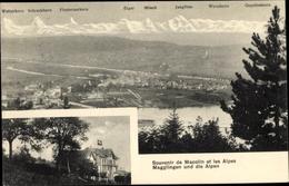 Cp Macolin Magglingen Leubringen Kanton Bern, Hotel, Panorama Mit Wetterhorn, Schreckhorn, Eiger - BE Berne