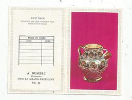 JC , Calendrier ,petit Format , 1977 ,A. Dumerc ,pharmacien ,37 ,LE GRAND PRESSIGNY ,2 Scans - Calendriers