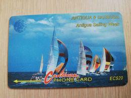 ANTIGUA & BARBUDA $ 20  Sailing Week White Logo         ANT-13B  CONTROL NR: 13CATB  WHITE    NEW C&W LOGO **2535** - Antigua And Barbuda