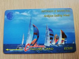 ANTIGUA & BARBUDA $ 20  Sailing Week White Logo         ANT-13B  CONTROL NR: 13CATB     NEW C&W LOGO **2536** - Antigua And Barbuda