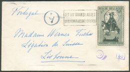 N°582- 5Fr.Saint-MARTIN Iobl. MécBRUGGE 3sur Lettre Du 3-II-1942 Vers Lisbonne + CensureAd.. -TTB - 15793 - Bélgica