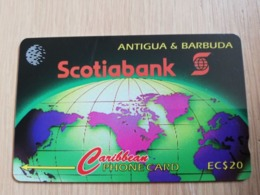 ANTIGUA & BARBUDA $ 20  SCOTIA BANK          ANT-12A  CONTROL NR: 12CATA      NEW C&W LOGO **2539** - Antigua And Barbuda
