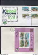 Kiribati Michel Cat.No. FDC 349/352 + Sheet 7 - Kiribati (1979-...)