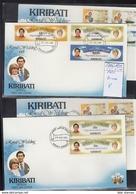 Kiribati Michel Cat.No. FDC 371/376 A/C + Sheets + Panes + Sheet 8 Lady Di - Kiribati (1979-...)