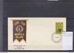 Norfolk Inseln Michel Cat.No. FDC  93 Lions - Norfolk Island