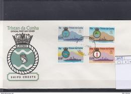 Tristan Da Cunha Michel Cat.No. FDC 216/219 Crests - Tristan Da Cunha