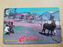ANTIGUA & BARBUDA $ 10  BARBUDA KIDS AT PLAY          ANT-14A  CONTROL NR: 14CATA      NEW C&W LOGO **2540** - Antigua And Barbuda