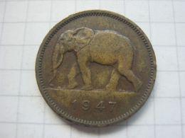 Congo Belgian , 2 Francs 1947 - Congo (Belgian) & Ruanda-Urundi