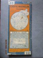 Carte MICHELIN France  N: 89  PARIS SUD ( De Breteuil à Montmirail Et De Châteaudun à Sens) - Cartes Routières
