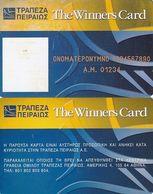 GREECE - Piraeus Bank, The Winners Card, Sample - Credit Cards (Exp. Date Min. 10 Years)