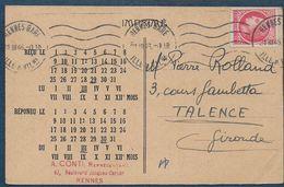 Carte Pour Jeu D' Echecs Par Correspondance - Ajedrez