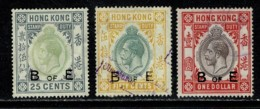 Hong Kong Stamp Duty Used Edward VII 25, 50 Cent, 1 Dollar B Of E (Bill Of Exchange) - Hong Kong (...-1997)