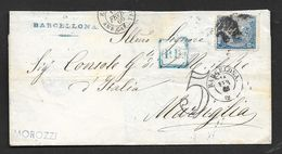 1866 BARCELONA TO MARSIGLIA N°152 - Storia Postale