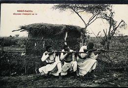 CPA  Ethiopie    Dirré Daoua   Abyssin S'exerçant Au Tir - Ethiopie