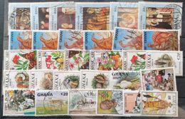 GHANA MIXED LOT USED POSTAGE EXTRA - Ghana (1957-...)