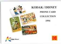 Serie 4 Carte KODAK/DISNEY - Topolino & Company - SINGAPORE 1994 - BD