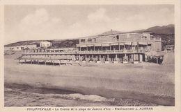 PHILIPPEVILLE / LE CASINO ET LA PLAGE DE JEANNE D ARC / RARE - Skikda (Philippeville)