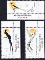 2018-0272 Namibia 2016 Whydahs Witwenvögel Complete Set MNH ** - Namibie (1990- ...)