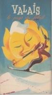 OLD BROCHURE - LEAFLET -  SKI - SWITZERLAND - VALAIS - 36 PAGES - GREAT DESIGN - VS Valais