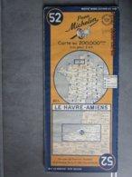 Carte Routière MICHELIN  N: 52  LE HAVRE - AMIENS  édition De 1948 - Cartes Routières