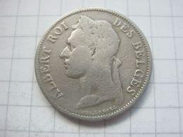Congo Belgian , 50 Centimes 1925 (french) - Congo (Belgian) & Ruanda-Urundi