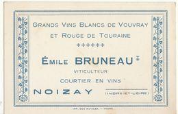 E. Bruneau Grands Vins Blancs De Vouvray Et Rouge De Touraine  Noizay Indre Et Loire - Food