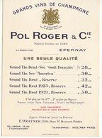 """""""Grands Vins De Champagne"""" Pol Roger & Cie - Alimentaire"""