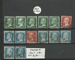 LOT De 14 Timbres PASTEUR 1923-26 (Oblitéré) - 1922-26 Pasteur