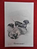 CPA 1911 Illustrateur ? Chiens/ Bonne Année - Künstlerkarten