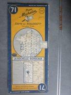 Carte Routière MICHELIN  N: 71 LA ROCHELLE BORDEAUX  édition De 1949 - Cartes Routières
