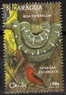 Nicaragua 1992 - Boa émeraude, Corallus Caninus - Serpenti