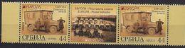 2013  Serbien Mi. 501-2  **MNH Gutter Pair  Europa: Postfahrzeuge. - Europa-CEPT