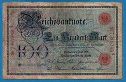 DEUTSCHES REICH 100 Mark08.06.1907# 7381048 A   P# 30 Reichsbank - [ 2] 1871-1918 : German Empire