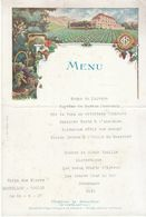 Villa Des Fleurs Morillon - Toulon Menu 23 Août 1927 - Menus