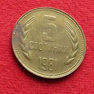 Bulgaria 5 Stotinki 1981 KM# 113 1300th Anniversary Of Bulgaria  Bulgarie Bulgarije Bulgarien - Bulgarien