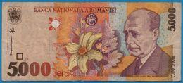 ROMANIA  5000 Lei 1998  # 004A2738064 P# 107a   Lucian Blaga - Rumänien