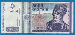 ROMANIA  5000 Lei MAI 1993  # C.0025   214804  P# 104   Avram Iancu - Rumänien