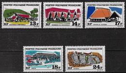 POLYNESIE FRANCAISE - GRANDS EDIFICES - N° 72 A 76 - NEUF** - Polynésie Française