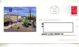 Pap  Lamouche Flamme Muette Tarare Illustré Pontcharra - Postal Stamped Stationery