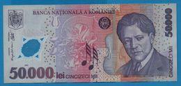 ROMANIA  50000 Lei 2002  # 023D5007173 P# 113a    George Enescu - Roumanie