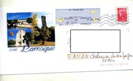 Pap  Beaujard Flamme Chiffrée Cachet Vignette Plancard Illustré Larroque - Prêts-à-poster:Overprinting/Beaujard