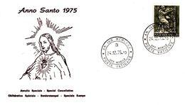 Vaticano Anno Santo 1975 Annullo Speciale Timbro FDC - Christianity