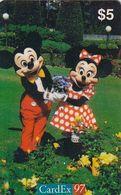 NORWAY - Disney/Mickey & Minnie, CardEx 97/Brussels, 10/97, Used - Norvège