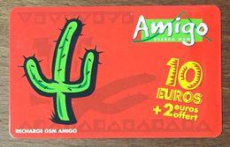 SAINT MARTIN ANTILLES AMIGO 10 EUROS CARTE RECHARGE GSM PHONECARD CARD PAS TÉLÉCARTE - Antilles (Françaises)