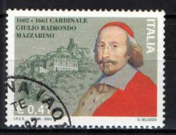 ITALIA - 2002 - CARDINALE GIULIO RAIMONDO MAZZARINO - USATO - 2001-10: Oblitérés
