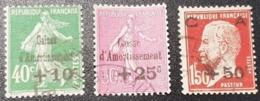 N° 253 à 255  Avec Oblitération Cachet à Date  TTB - Gebraucht
