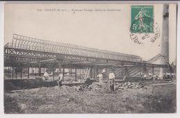 CHOLET :TISSAGE DE BOURGNEUF (USINE TURPAULT) CONSTRUCTION EN 1910-RUE DE LORRAINE & RUE DU LAIT DE BEURRE-PEU COURANTE - Cholet