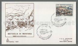 C8526 Italia FDC 1987 ANNIVERSARIO DELLA BATTAGLIA DI MENTANA CAPITOLIUM - F.D.C.