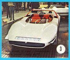 ALFA ROMEO 33 COUPE PININFARINA - Yugoslav Vintage Card * Used In A Album * Car Automobile Automobil Italy Italia - Stickers